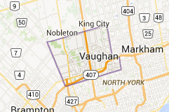 Map of Vaughan